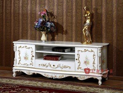 [紅蘋果傢俱] F111K 宮廷凡爾賽系列 頂級進口 歐式電視櫃 法式TV櫃 新古典 地櫃