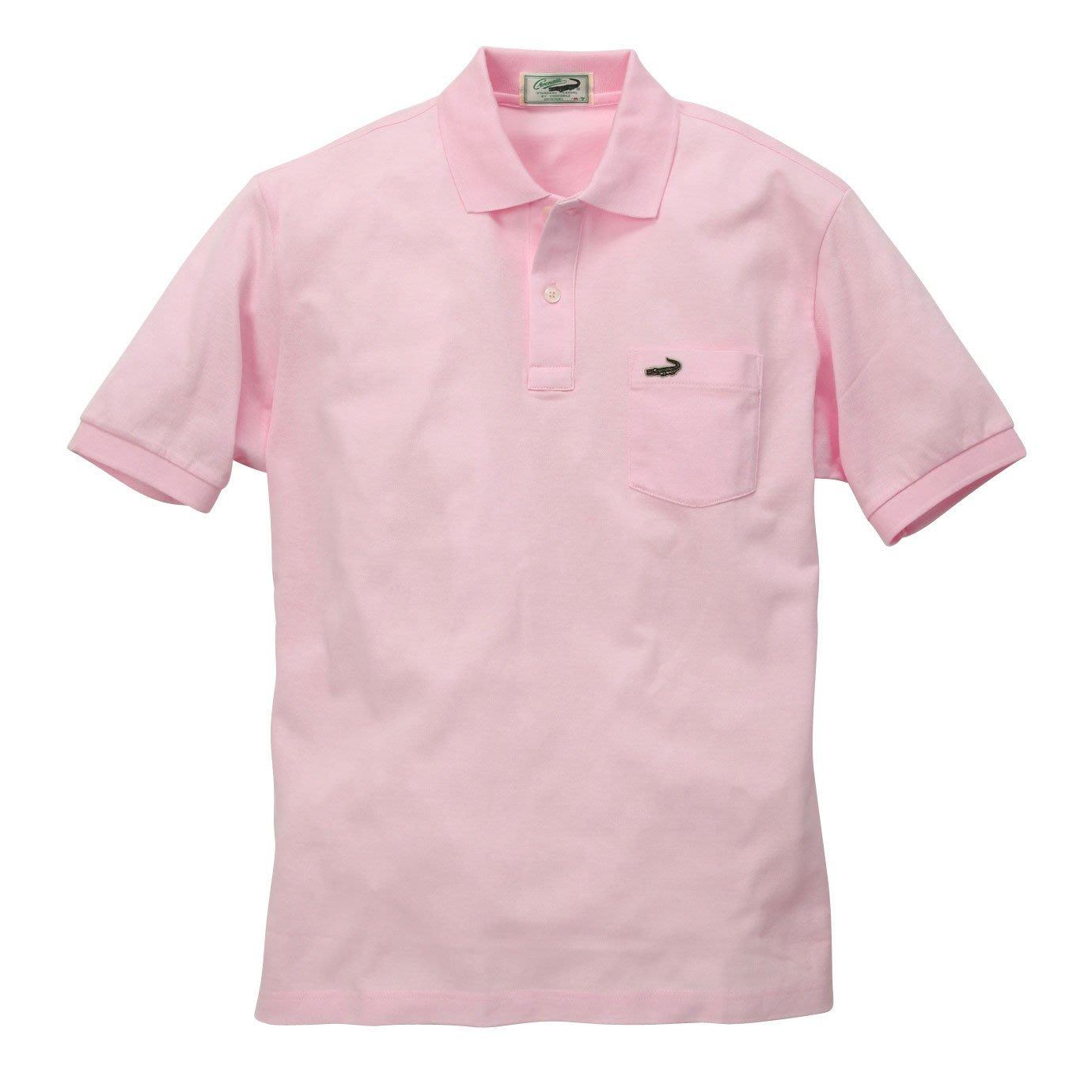☆注目の日本製Crocodile 夏新款粉紅色鱷魚logo短袖Polo綿衫☆