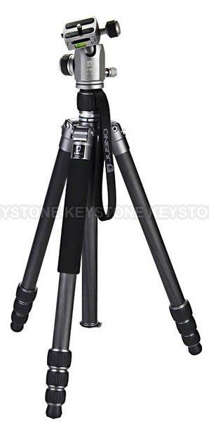 呈現攝影-Jusino JK-425C+BT-02 (銀) 四節反摺 碳纖維腳架+雲台/可反折 變單腳架 高170低31