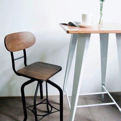 百老匯diy家具-約克吧台椅/高腳椅/工業風/金屬椅/復古作舊鐵件/竹製椅面