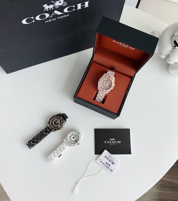 小皮美國代購 COACH 新款Preston系列女士手錶 錶盤內鑲嵌鑽石裝飾 現代小香風 三色可選