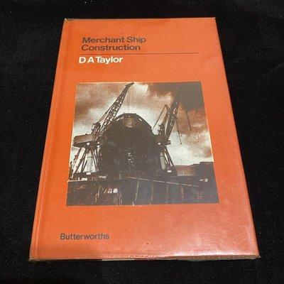 二手老書 1980年 Merchant Ship Construction / D.A. Taylor / lo