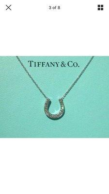 Tiffany&Co 馬蹄鑽石鉑金項鍊《限時降價4萬5千元》