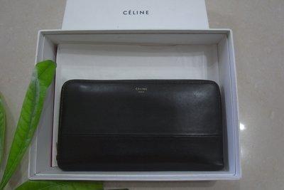 Celine 真品 最新款 優質小羊皮ㄇ型長夾