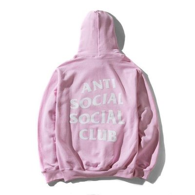 YZY|AntiSocial Social Club KNOW BETTER 經典 Hoodie 帽T 白印 PINK