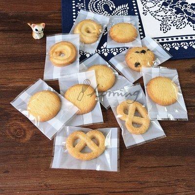 【homing】(7 X 9.5 cm)簡潔白底透明亮面烘焙西點甜點餅乾包裝袋/機封袋/平口袋/瑪德蓮/牛軋餅/糖霜餅乾