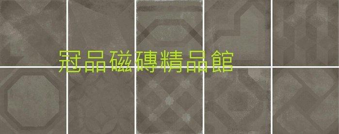 ◎冠品磁磚精品館◎義大利進口精品-復古花磚10種花隨機 (共四色) –20X20CM