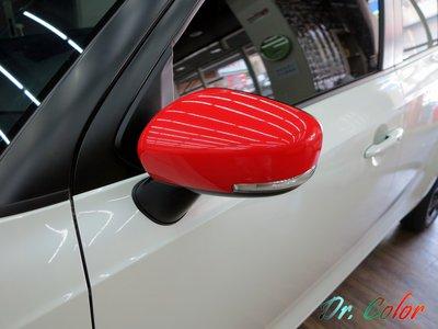 Dr. Color 玩色專業汽車包膜 Suzuki Ignis 亮紅 / 絲綢白_後視鏡