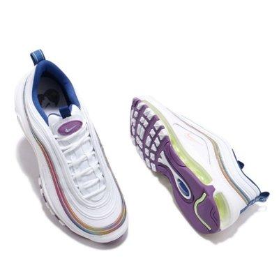 【吉米.tw】NIKE W AIR MAX 97 氣墊 復古休閒 慢跑鞋 炫彩 彩虹 女鞋 CW2456 MAR