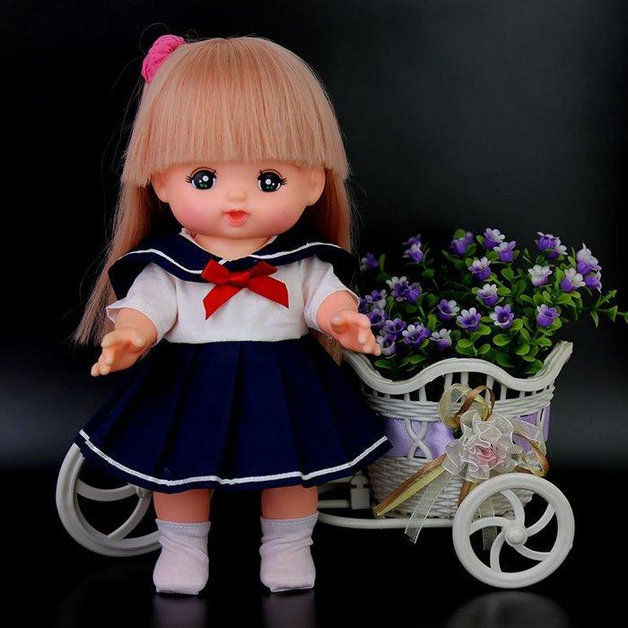 【小黑妞】小美樂巧虎小花30cm以下娃娃配件衣服-~海軍風水服制服日系制服(不含娃娃)【現貨】