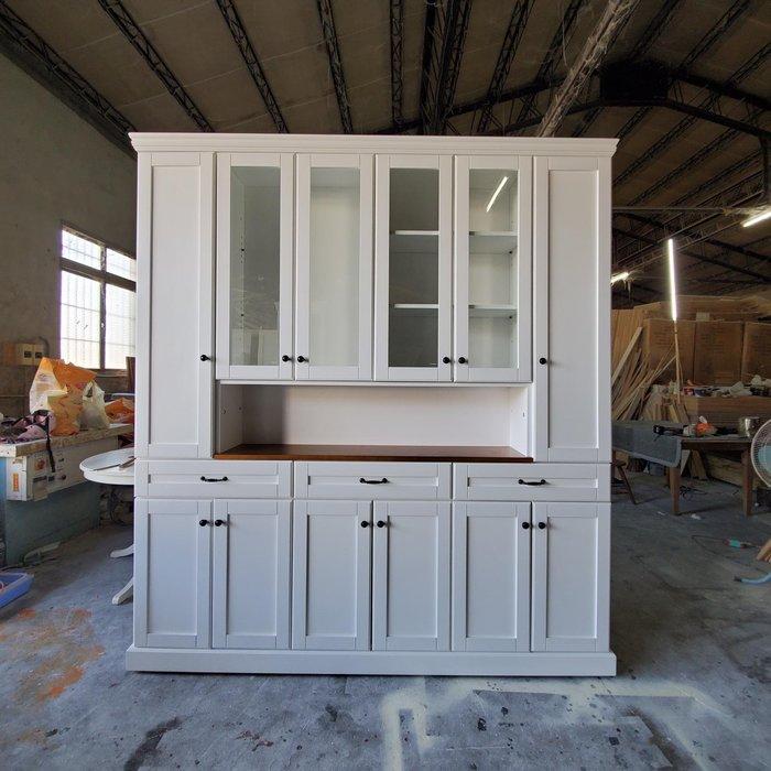 美生活館 美式鄉村風格家具訂製 雙色 書櫃 餐具收納櫃 展示櫃 邊櫃 手作木工系統櫃 多只合併組合方便搬運移動