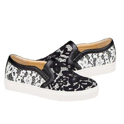 =WHITY=韓國FUPA品牌 韓國製  時尚大牌美腿新款GIVEN手工蕾絲真皮小羊皮浪漫厚底鞋S8DCC74
