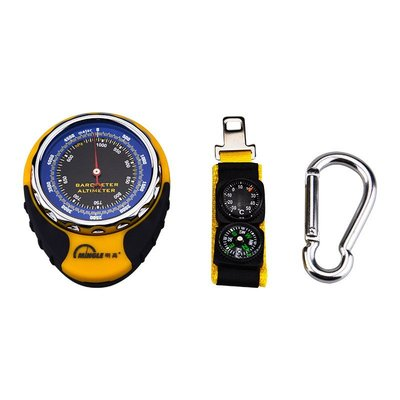 海撥高度儀車載戶外釣魚登山氣壓計指南針溫度計天氣預報多功能