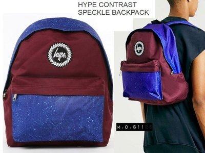M.O.S1126 出清現貨 英國 Hype CONTRAST SPECKLE 深紅+藍色潑墨 Backpack 背包