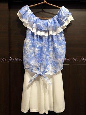 日本連線~特價 全新正品 CECIL McBEE 荷葉領前綁帶雪紡洋裝 (No07125)
