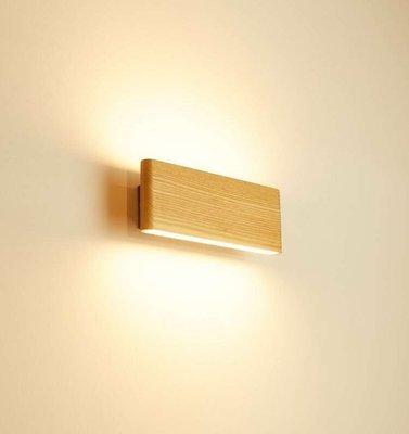 現貨供應 LED 8W超薄原木壁燈/上下打光-實木製品-實品拍攝
