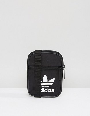 「Rush Kingdom」代購 黑色 adidas Trefoil Flight Bag 側背小包 BK6730