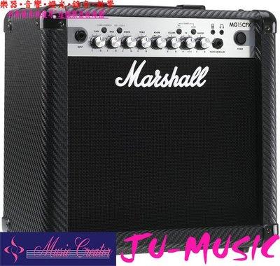 造韻樂器音響- JU-MUSIC - Marshall COMBO MG15CFX 電吉他 音箱 內建 效果器 另有 30CFX