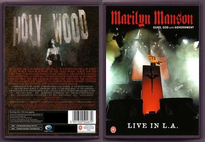 音樂居士#Marilyn Manson Guns God & Government Live In L.A. () DVD