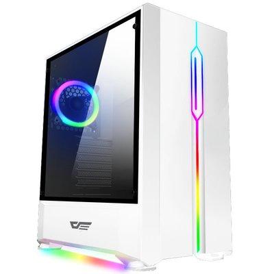 『高雄程傑電腦』aigo 愛國者 T20 黑/白色 RGB版 鋼化玻璃 RGB燈條 RGB風扇X1【實體店家】