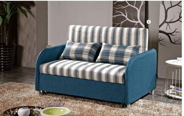 【DH】商品貨號G728-1商品名稱《紐麥沙》布面造型沙發床(圖一)座/臥兩用多功能經典設計。主要地區免運費