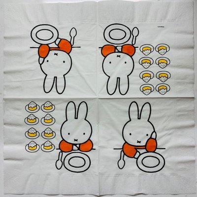 ❤Lika小舖❤日本製33cm卡通款餐巾紙 蝶谷巴特 蝶古巴特 米飛兔餐巾紙 日本進口餐巾紙