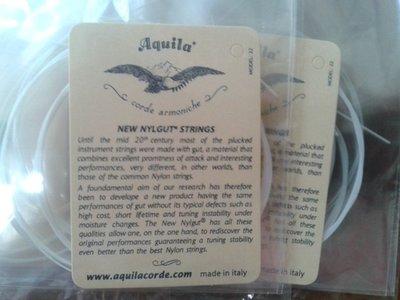 【Q音符】全新 Aquila 烏克麗麗套弦 UKULELE 弦 21吋、23吋均可適用 比一般尼龍弦聲音優雅 ~有現貨