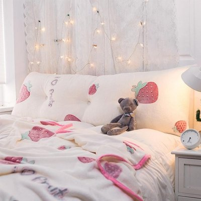 床頭靠枕軟包大靠背可拆洗床上網紅公主臥室草莓可愛牛油果抱枕 ATF 魔法鞋櫃