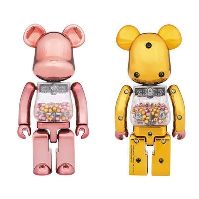 My First baby BEaRBRICK Pink and Gold Ver. Silver Ver. 200%