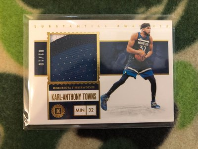 2019/20 Encased Karl Anthony Towns Substantial Swatches 1/10