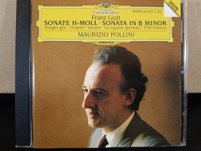 Pollini,Liszt-Sonata In B Minor etc, 波里尼,李斯特-B小調鋼琴奏鳴曲等,如新。
