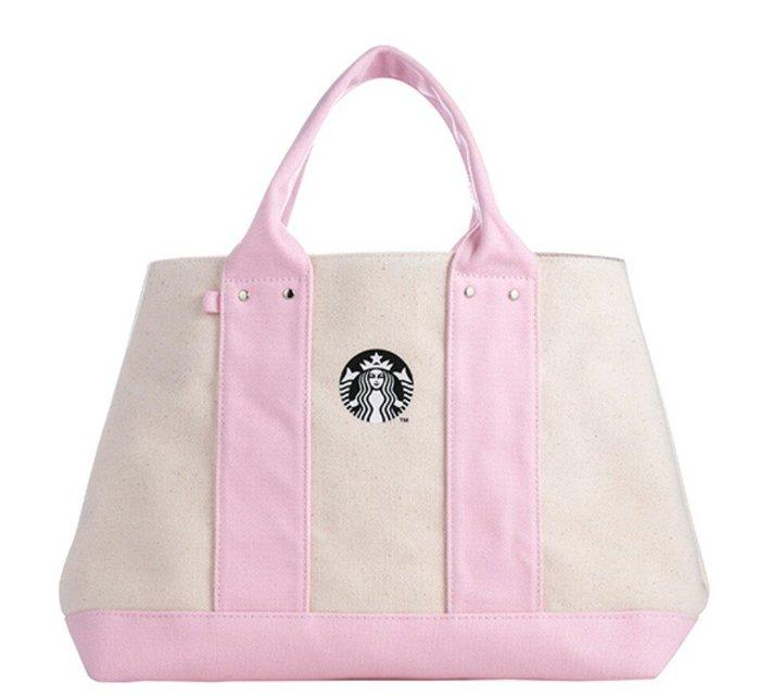 天使熊雜貨小舖~星巴克STARBUCKS 粉色女神提袋  全新現貨