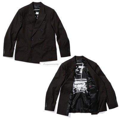 【美國鞋校】預購 Supreme JPG Pinstripe Double Breasted Blazer 西裝外套