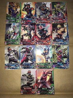 二手台版假面騎士gambaraijingu第1彈卡片14張