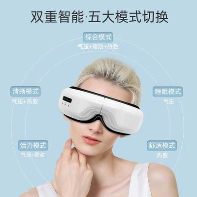 防護眼罩眼部按摩儀護眼緩解疲勞消除眼袋皺紋熱敷氣壓折疊加熱震動護眼儀