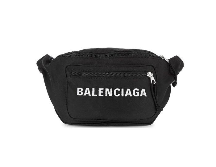 [全新真品代購-F/W18 新品!] BALENCIAGA 刺繡LOGO 尼龍 腰包 / 肩背包