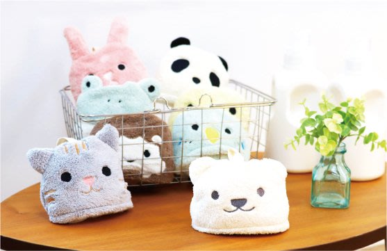 日本 可愛動物造型 可掛式擦手巾