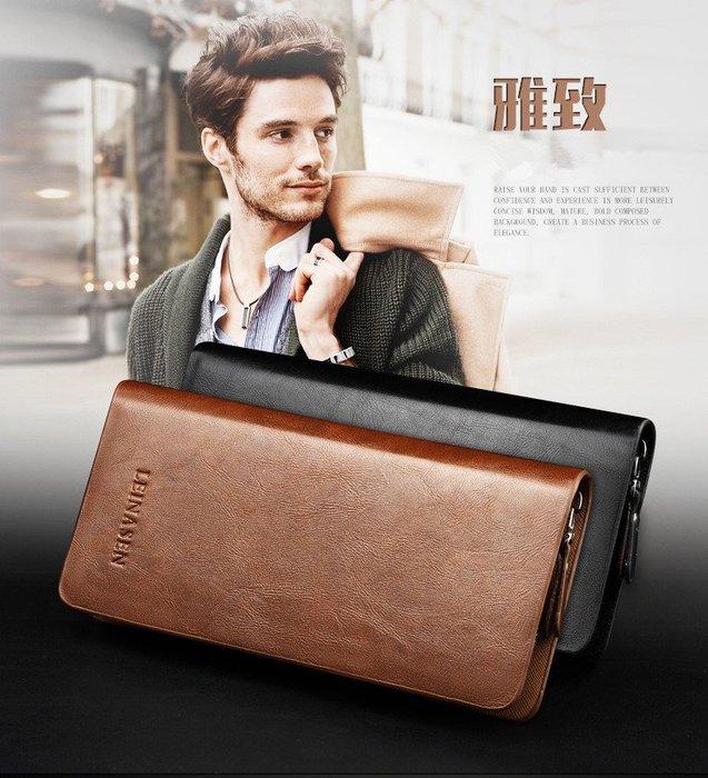 LEINASEN大容量商務休閒皮夾手包(二件免運)