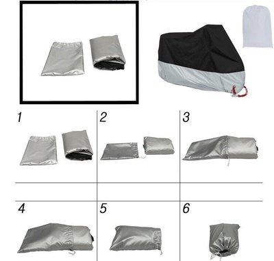 *╮小美 現貨【加厚機車罩】 SYM三陽 JET S 125 防塵套 機車罩 防曬套 適用各型號機車