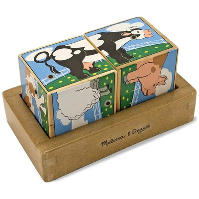 【晴晴百寶盒】美國進口聲音積木-農場動物 Melissa&Doug扮演角系列手眼協調 生日禮物家家酒益智遊戲玩具W648