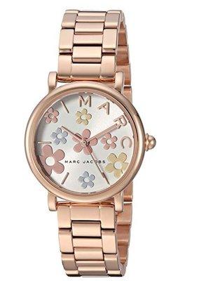 Melia 米莉亞代購 美國代買 MARC JACOBS MJ3582 女士款 手錶 精品錶 石英錶 玫瑰金鋼 花朵錶盤