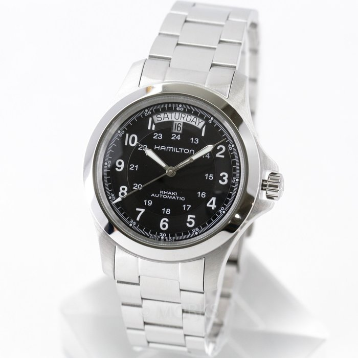 現貨 可自取 HAMILTON H64455133 漢米爾頓 手錶 40mm 卡其系列 日期星期顯示 鋼錶帶 男錶女錶
