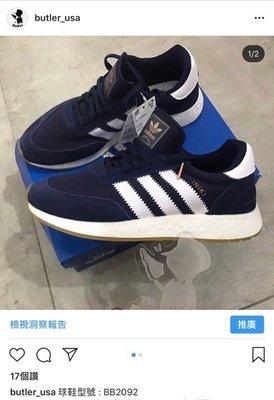 [Butler] 優惠代購 Adidas Iniki Runner 海軍藍 復古風 boost 慢跑鞋 BB2092 台南市