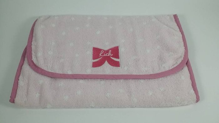 ☆Juicy☆日本流行品牌rich專櫃滿額贈品 水玉點點蝴蝶結 手拿包 旅行衣物整理包 收納袋  3294