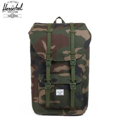 Herschel Supply Co. Little America 迷彩 軍綠 後背包  獨家