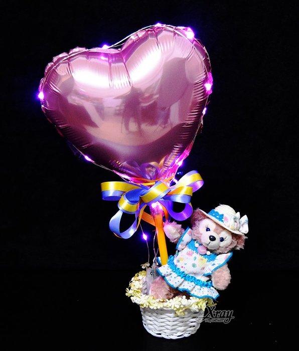 X射線【Y170032】夏日限定雪莉梅ShellieMay幸福熱氣球,捧花/情人節禮物/熱氣球/金莎花束/亮燈花束