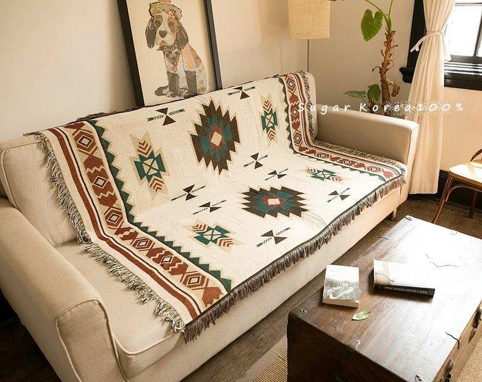 155*200 土耳其基里姆 蘇克雷 民族風多用途露營野營桌巾流蘇蓋毯地毯沙發巾編織毯現貨Sugar Korea100%