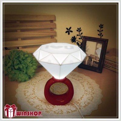 【贈品禮品】B1743 USB鑽戒燈 LED浪漫情侶小夜燈 鑽石燈 戒指燈 檯燈情人創意禮物  新婚禮物 書桌燈 氣氛燈