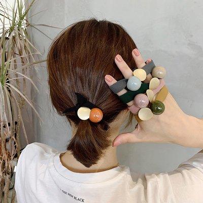 SWEET COVE~奇美拉橡皮筋髮圈5條韓國網紅簡約ins扎頭髮皮筋女頭繩2021年新款