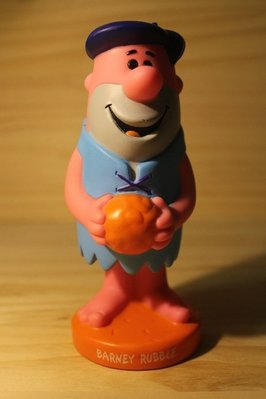 (I LOVE樂多)摩登原始人 barney rubble funko 巴尼 搖頭公仔 橘藍異色版 商品稀少值得珍藏